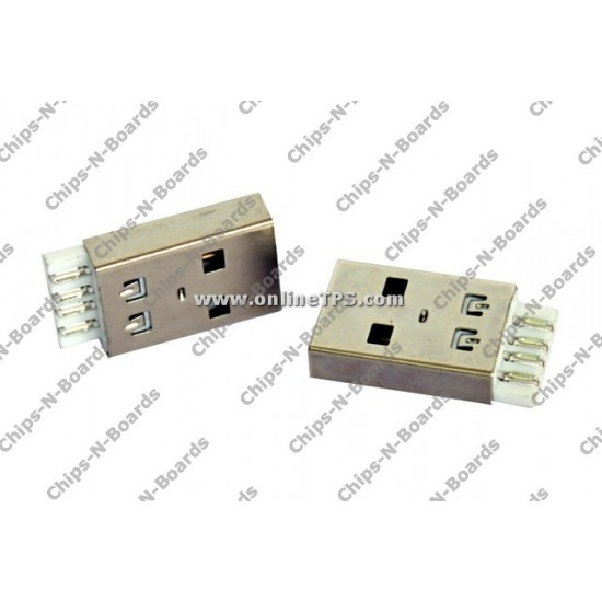 USB Standard-A Plug Connector - Cable Mount