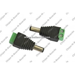 2 Pin Screw Terminal to DC Jack Adapter