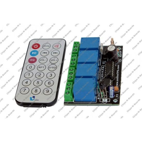 4 Channel IR Remote Control Board