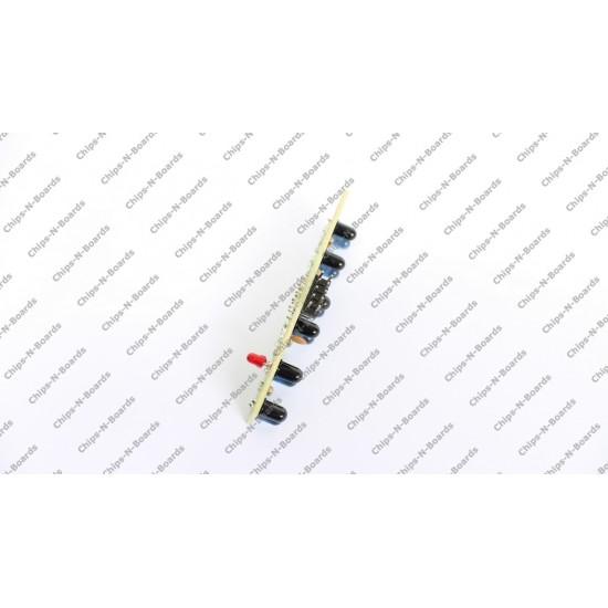 6 IR LED-Photodiode Analog Sensors Array for Line follower Robot