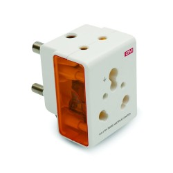 GM 3050 16AMP 3 PIN MULTI PLUG ADAPTOR