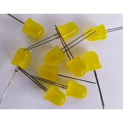 Yellow LED -10mm Round Shape Diffused