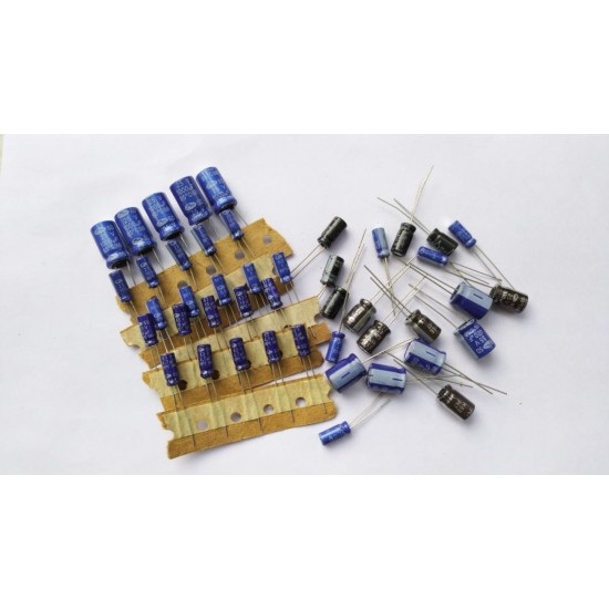 Mixed Electrolytic Capacitor Pack OF - 50 Pcs - 5pcs Each of  1uf/63v  10uf/63v  22uf/25v  47uf/25v  100uf25v  220uf/16v  330uf/25v  1000uf/25v  2.2uf/63v  4.7uf/63v