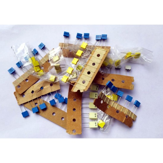 Mixed BOX Capacitor Pack of - 50 pcs - 5pcs each of - 103J100V  223J100V 472J100V  224J100V  102J100V  68nj63v  1nk63v  4n7j100v  474J100V  10nf
