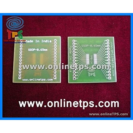 PCB for SSOP-25 Pitch 0.65MM