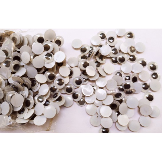Wiggle Googly Eyes For Toy Project 5mm 8mm 10mm 12mm - 20Pcs Mixed Pack