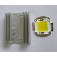 30W High Power White LED With Heatsink