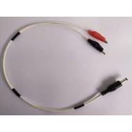 DC Jack to Crocodile Clip Connector Cable