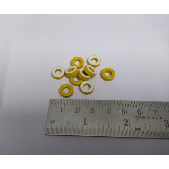 T-10 ferrite core -Coated - Yellow