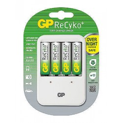 Godrej GP ReCyKo USB Rechargeable Battery Cell Charger + 4 Pc 2100 mAmp AA Cells