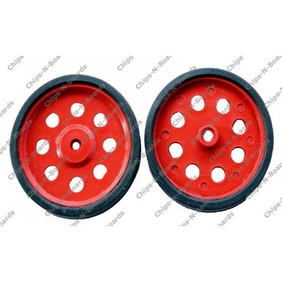 Wheel - Dia-6cm,Width-8mm for BO Motor