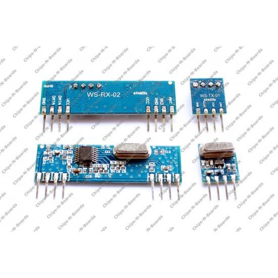 Transmitter Receiver 433Mhz RxTx Module