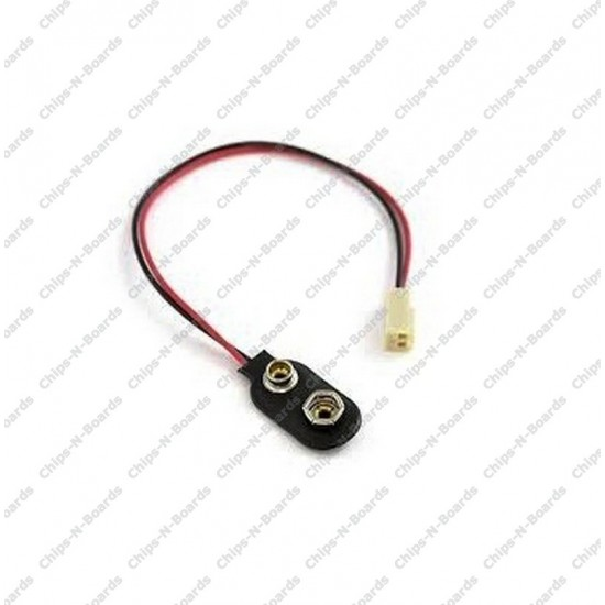 2 Pin Polarized Header Cable to 9V Battery Connector