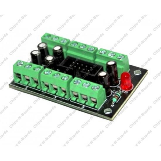6 Screw Terminal to 10 Pin Box Header PCB Board