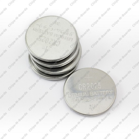 Li-ion Coin Cell Lithium Battery CR2025 - 3V