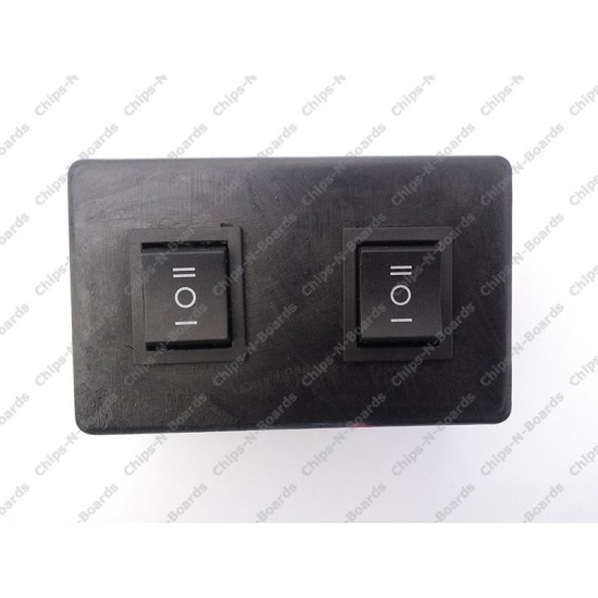 Switch Box for 2 DPDT Switches