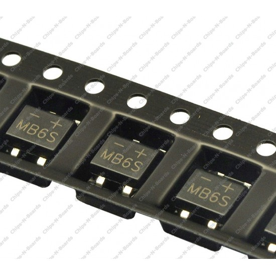 Bridge Rectifier MB6S - SOIC-4 Package
