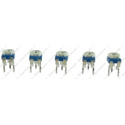 Mixed Cermet Preset - Variable Resistance -Pack of 40pcs - 5Pcs Each of - 200 Ohm  5K Ohm  10K Ohm  20K Ohm  100 Ohm  1K Ohm  500 Ohm  1M Ohm