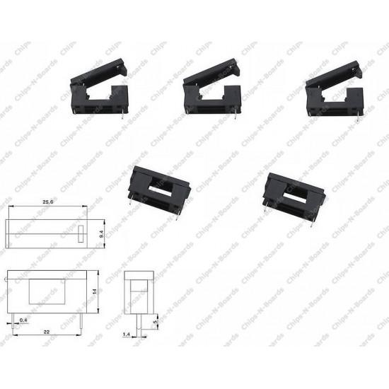 Fuse Case-Holder PCB Mount Pitch -23mm