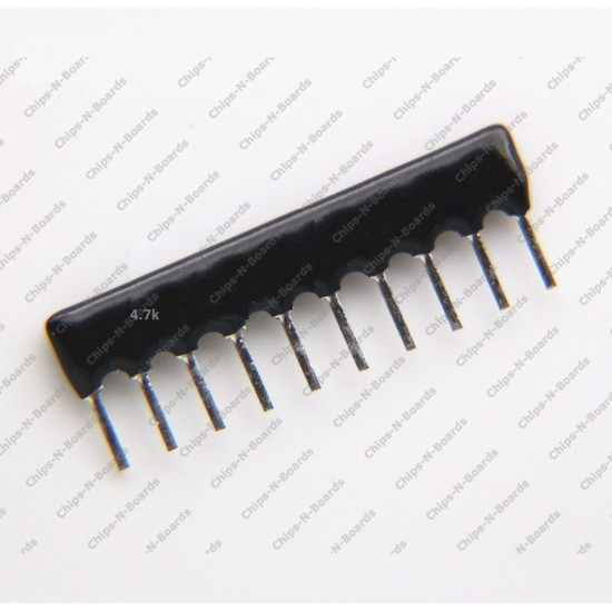 Resistance Network  4.7K ohm - 9 Pin