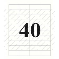 A4 label Sticker Paper ST40A4100,40 Label - 25pcs pack