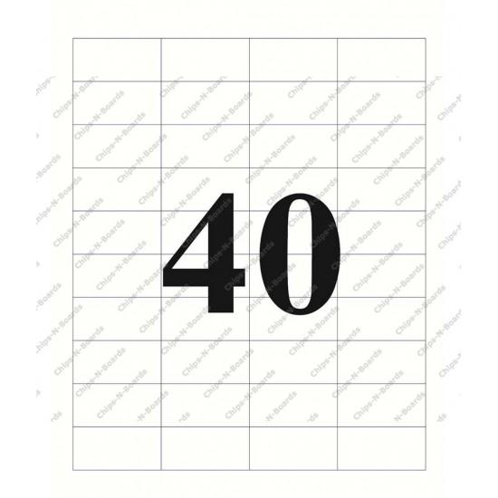 A4 label Sticker Paper ST40A4100,40 Label - 25pcs pack