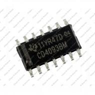 CD4093 Quad 2-Input NAND Schmitt Triggers (SMD Package)