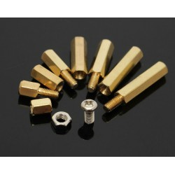 Hexagonal Brass-Metal Spacer M3 - Pack of 5pcs