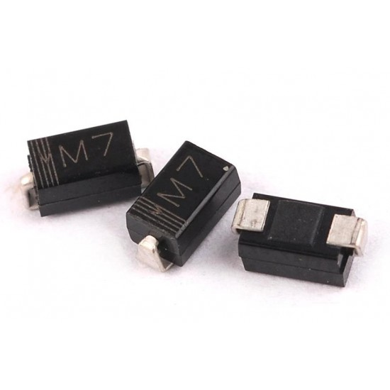 Diode M7 1000V 1A SMD High Voltage Rectifier Diode SMD 1N4007 Case DO-214 DO214
