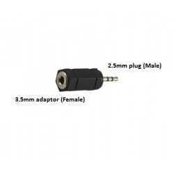 2.5mm Stereo Plug TO 3.5mm Stereo Jack Adapter