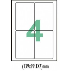 A4 label Sticker Paper ST4A4100,4 Label - 25pcs pack