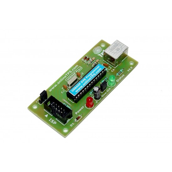 USBASP AVR Programmer with USB Cable