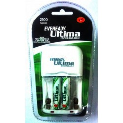 Eveready ULTIMA Charger+2 AA 2100mAmp Rechargeable Battery Cell