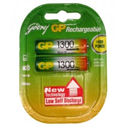 Godrej GP AA 1300mAh NiMh Rechargeable Battery Cell Pack of 2