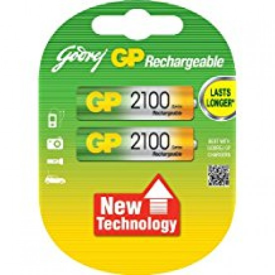 Godrej GP AA 2100mAh NiMh Rechargeable Battery Cell Pack of 2