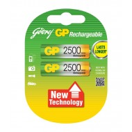 Godrej GP AA 2500mAh NiMh Rechargeable Battery Cell Pack of 2