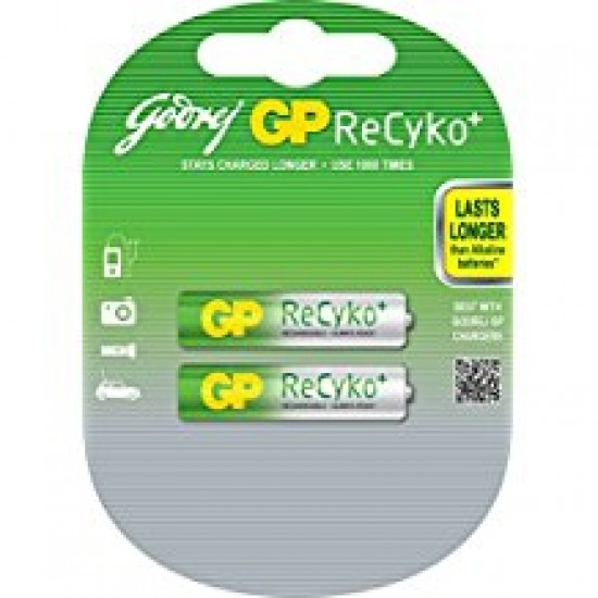 Godrej GP RECYKO AA 2100mAh NiMh Rechargeable Battery Cell Pack of 2