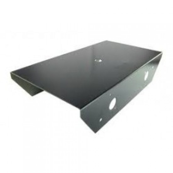 Chassis for Robot - Powder Coated Black 19cm X9.5cm X4cm