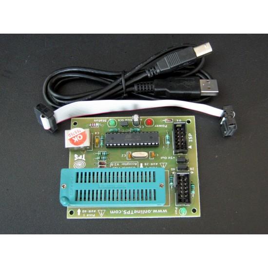 USBASP AVR Programmer with Acceptor,FuseBit Set Function