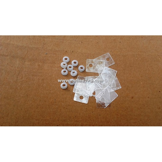 Mica Thermal Pad and Washer for TO220 Package - 10 Pairs