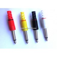 Mono Jack - 6.3mm (Plastic Body Plug)