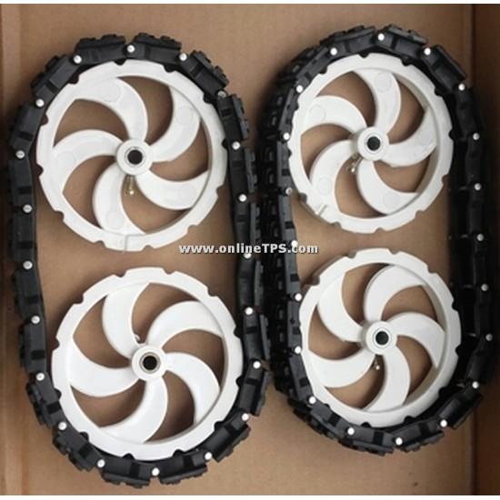 Linked Track Belt Wheel Set -Set of 2 belts 4 wheels