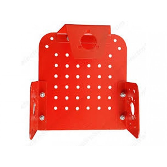 Chassis for Robot - Powder Coated Red 11.5cm X 10.5cm X4.5cm (For BO Motor also)