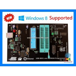 AT89C51,52,S51,S52 8051 and EEPROM Programmer (for Windows8-10)
