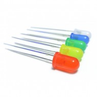 Mixed 5mm LED Pack of - 80 Pcs. - 10Pcs  Each of - RED GREEN BLUE WHITE YELLOW ORANGE PINK INFRARED IR LED