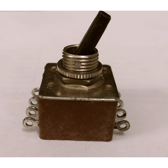 DPDT Switch - Either/Or - Toggle Type - Lock Action -(5 Amp)