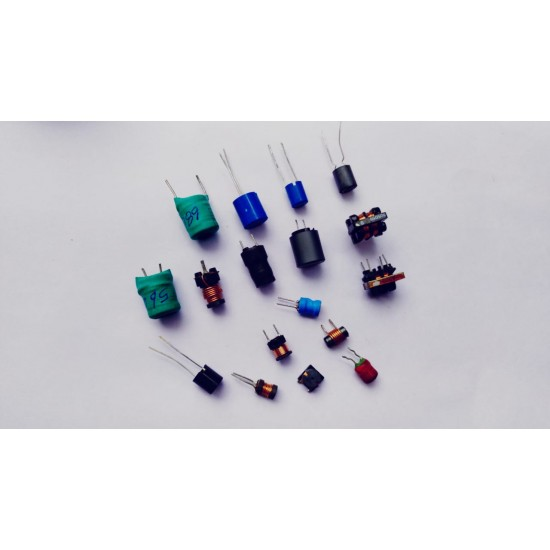 Mixed Choke and Coils inductor Pack OF 17 Pcs - 1pc Each of - 10uh  18uh  20uh  22uh  33uh  33uh (smd)  47uh  56uh  68uh  100uh 4.7uh  4.7uh (.4R7)  6.8UH (.6R8)  3mh  22mh  2.2mh  4.7mh