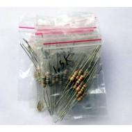 Mixed  Resistance 1/2 Watt Tolerance 5% Pack of 150 Pcs - 10Pcs Each of - 10k  150k  47k 270 Ohm  1.2k  1.5k  2.2k  2.7k  3.3k  150 Ohm  10 Ohm  100 Ohm  470 Ohm  1 Ohm 820 Ohm